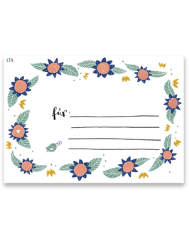 Adressaufkleber - Blumen