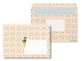 Briefumschläge Eiscreme - 10 Stück