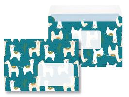 Briefumschläge Lama - 10 Stück