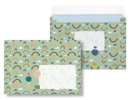 Briefumschläge Regenbogen - 10 Stück