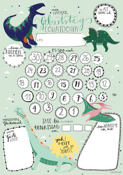 "Geburtstags Countdown ""Dinos"""