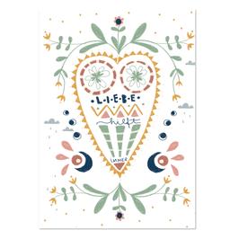 """Postkarte """"Liebe hilft immer"""""""