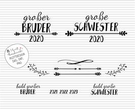 """Plotterdatei """"Große/r Schwester / Bruder"""" mit Jahreszahl"""