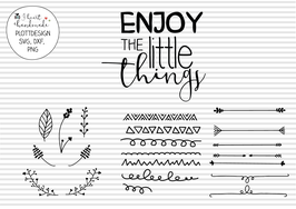 "Statement-Plotterdatei ""Enjoy the little things"""