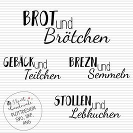 """Plotterdatei """"Brot und Brötchen"""" in vier Variationen"""
