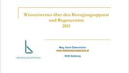 Wissenswertes über den Bewegungsapparat und Regeneration 2021