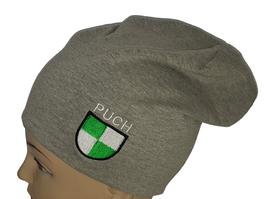 JERSEY-BEANIE-MÜTZE mit PUCH-Logo 170 155 HGRAU