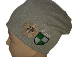 JERSEY-BEANIE-MÜTZE mit STEYR-PUCH-Logo 171 155 HGRAU