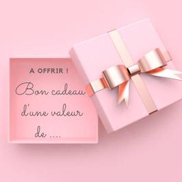 Choisissez la valeur du bon cadeau que vous souhaitez