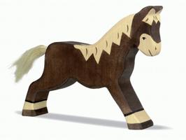 Pferd, dunkelbraun - laufend