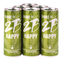 2B HAPPY - YOUR NATURAL FRUIT DRINK  WITH PURE HEMP