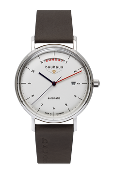 """Bauhaus Automatikuhr 21621  weiss """"Made in Germany"""""""