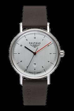 Bauhaus Quarzuhr mit schweizer Rondauhrwerk weiss 21401
