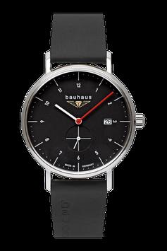 Bauhaus Quarzuhr m. kleiner Sekunde, Swiss Movement schwarz  21302