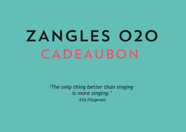 Zangles Cadeaubon - 30 minuten privéles