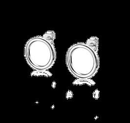 Zilveren Oorknoppen Rond Open