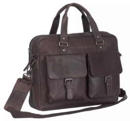 Laptoptasche Leder Chesterfield in Braun -Modell Dylan