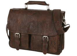 Businesstasche Leder Bull & Hunt Business Bag washed Braun