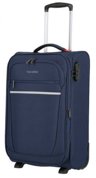 Reisetrolley Travelite 55cm,  Cabin Dehnfalte 2-Rad in Blau