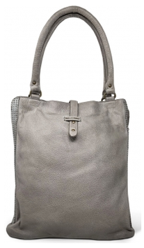 Ledershopper Bull & Hunt in Grau - Modell Carrie Zipper