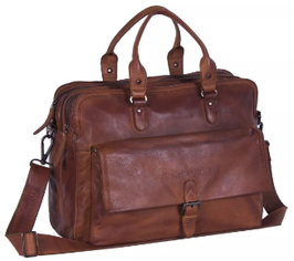 Laptoptasche Leder Chesterfield in Braun -Modell Johnny