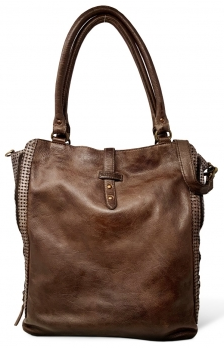 Ledershopper Bull & Hunt in Braun - Modell Carrie Zipper