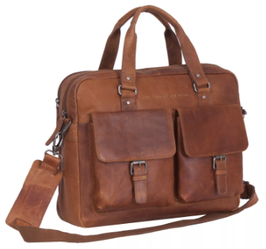 Laptoptasche Leder Chesterfield in Cognac -Modell Dylan