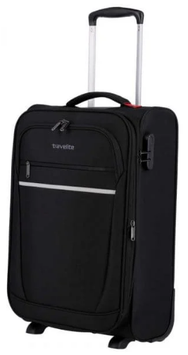 Reisetrolley Travelite 55cm,  Cabin Dehnfalte 2-Rad in Schwarz