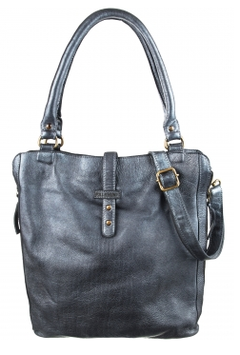 Ledershopper Bull & Hunt in Blau - Modell Carrie Zipper