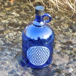 Henkelflasche mit Blume des Lebens V3
