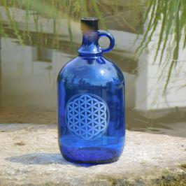 Henkelflasche mit Blume des Lebens V2