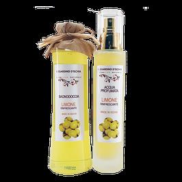 acqua profumata e bagno doccia al limone Il giardino d'Ischia