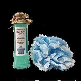confezione regalo bagnodoccia all'acqua marina e spugna vintage