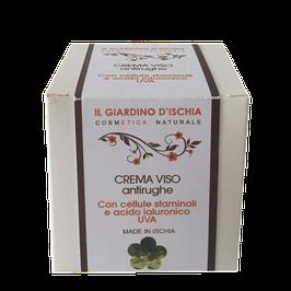 Crema viso antirughe all'uva con cellule staminali e acido ialuronico il giardino d'Ischia