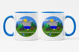 """Keramik Tasse """"Camping in Skandinavien"""""""