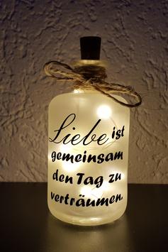 """Flaschenlicht """"Liebe ist"""""""