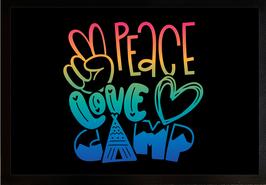 """Fußmatte """"Peace Love Camp"""""""