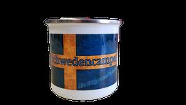 """Emaille Tasse """"Schwedencamper"""""""