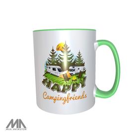 """Keramik Tasse """"Happy Campingfriends"""""""