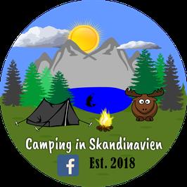 Aufkleber Camping in Skandinavien