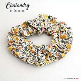 """Chouchou fleuri jaune """"Chalandry"""""""