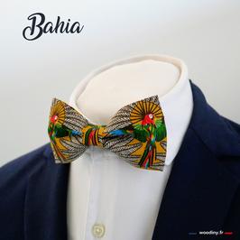 """Noeud papillon motif perroquet """"Bahia"""""""