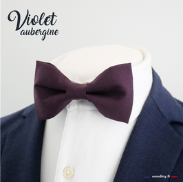 """Noeud papillon """"Violet aubergine"""""""