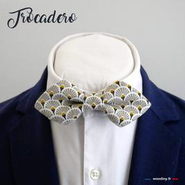 """Noeud papillon beige """"Trocadero"""" - forme en pointe"""