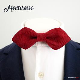 """Noeud papillon rouge """"Monterosso"""" - forme en pointe"""