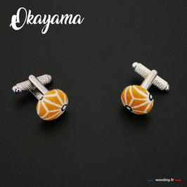 """Boutons de manchette """"Okayama"""""""