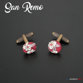 """Boutons de manchette """"San Remo"""""""