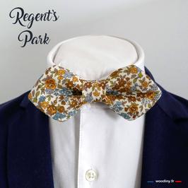 """Noeud papillon liberty """"Regent's Park"""" - forme en pointe"""