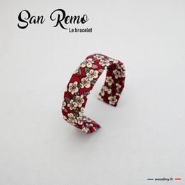 """Bracelet liberty rouge """"San Remo"""""""