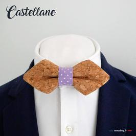 """Noeud papillon liège """"Castellane"""" - forme en pointe"""